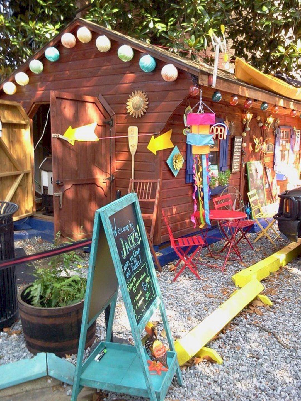24 Beautiful Hippie Garden Design For Fun Garden Inspiration Hippie Garden Backyard Playground Goat Playground