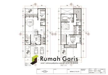 denah rumah 2 lantai luas tanah dan tipe | house design