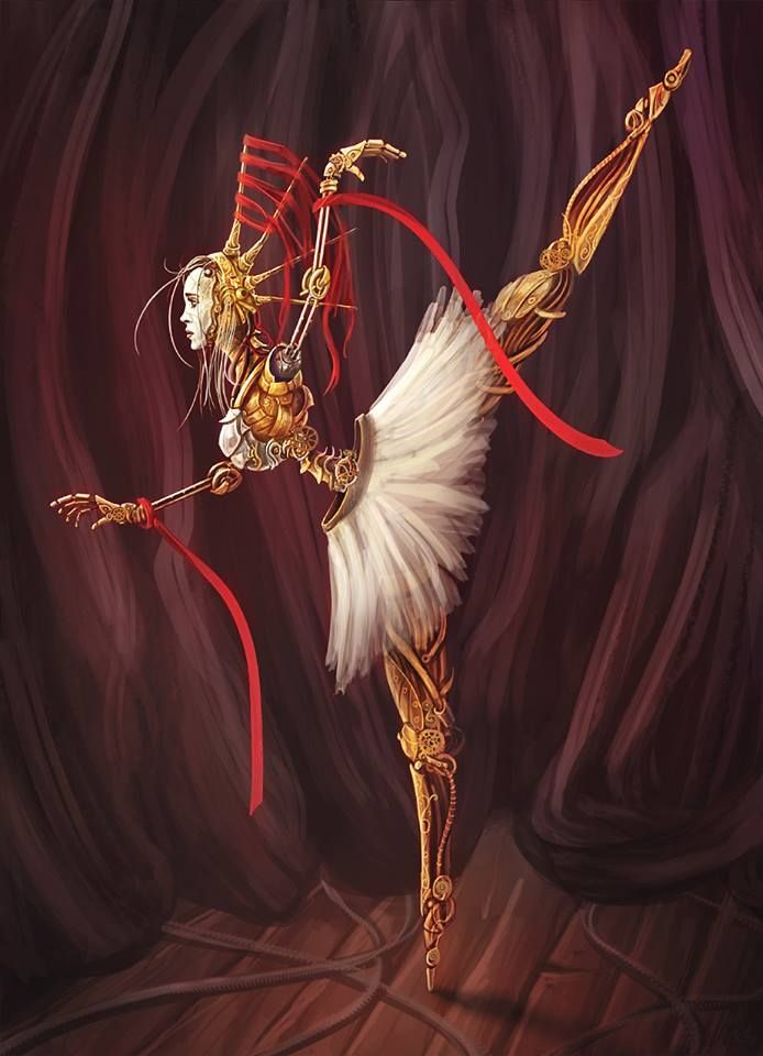 Steampunk Tendencies | Steampunk Coppelia by Tomasz Chistowski #Digitalart #Ballet #Steampunk