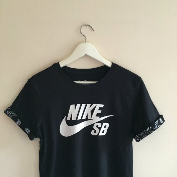 Unisex Authentic Nike SB Custom Cut   Sew black by SABAPPAREL Tee ca9341ebf7