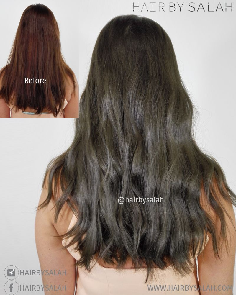 Before After Mat Brown Colour Without Bleach By Salah Hair