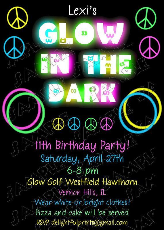 Kids Glow In Dark Birthday Shirt Iron On