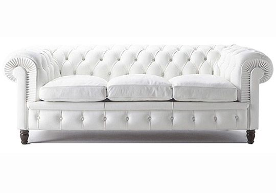 So Fresh And So Clean Poltrona Frau S White Chesterfield Sofa