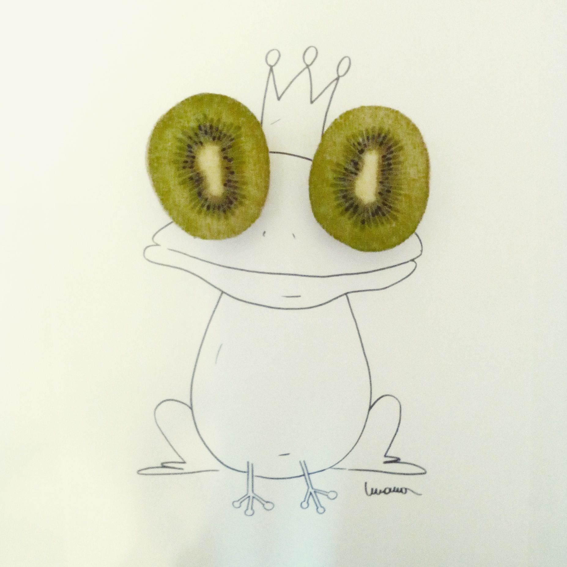 Frog crazy kiwi sketchs sunday pictures
