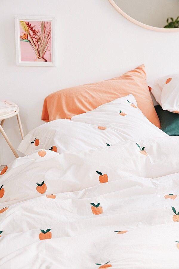 Photo of cute oragne pattern #bedding #soft #comfort