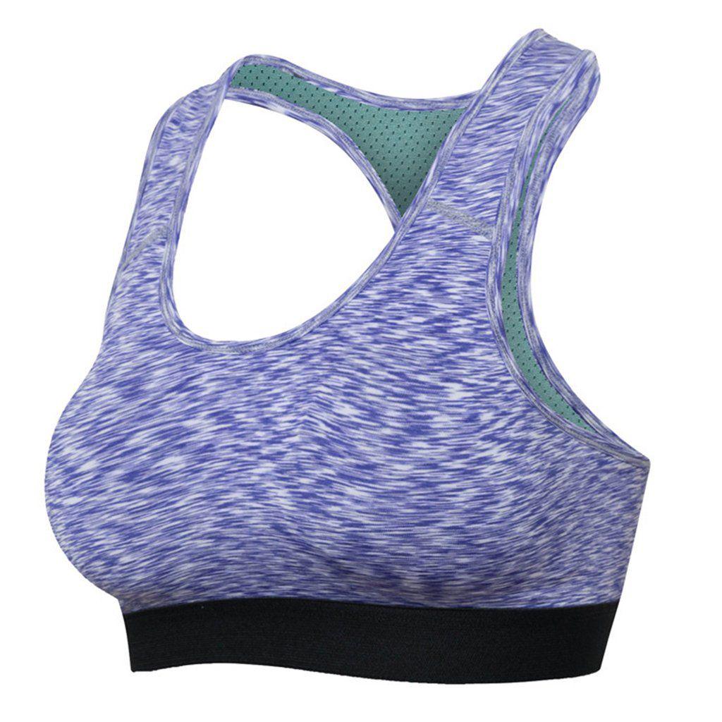 Women Workout Seamless Bra Racerback Fitness Yoga Padded GYM Sports Running Bra