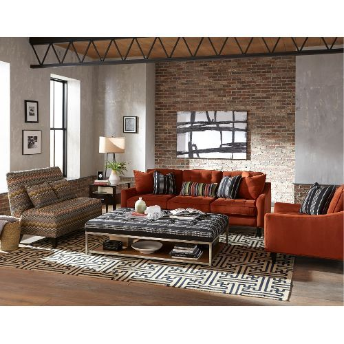 Mid Century Modern Rust Burnt Orange Sofa - Palmer | Living room ...