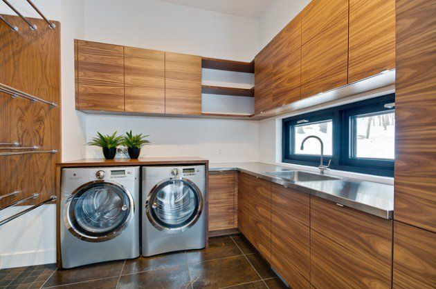 17 L Shaped Laundry Designs For Better Use Of The Space   Look At All The Part 77