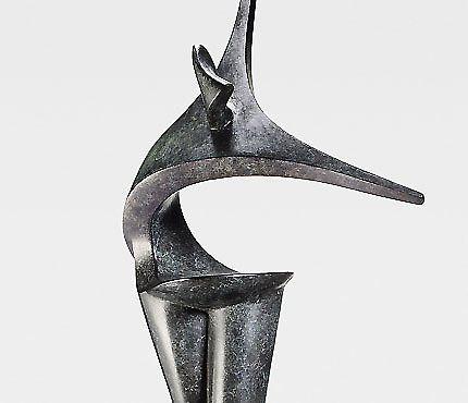 Salom sculpture contemporaine de marion b rkle bronze for Sculpture contemporaine