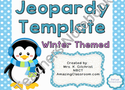 Activinspire Promethean Flipchart Jeopardy Template  Winter