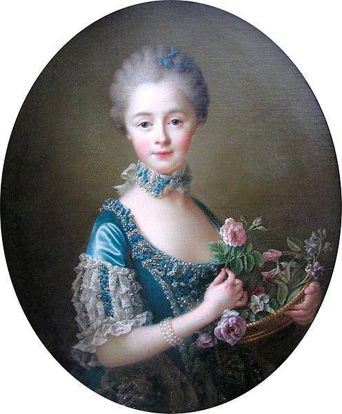 Portrait du XVIII ème de la Marquise Amelia Osborne, peint