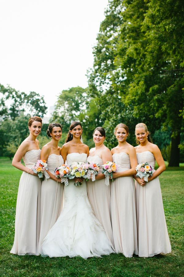 Taupe Bridesmaids Dresses | Taupe bridesmaid