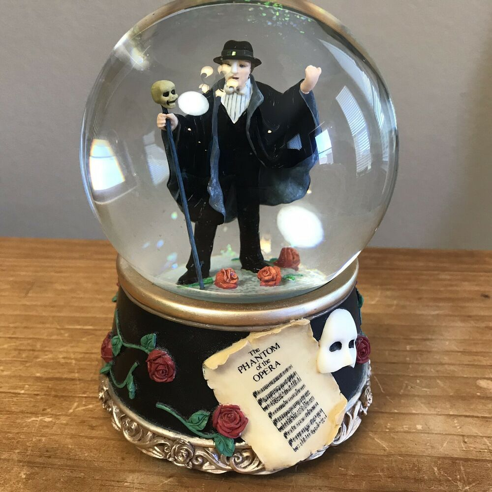 Phantom Of The Opera Musical Snow Globe Masquerade San ...