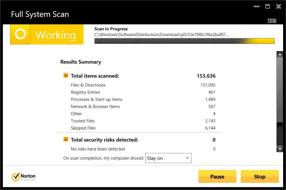 full system scan security