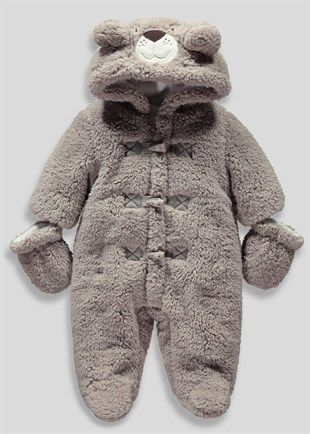 cd514f78 Boys Bear Snowsuit with Mittens (Newborn - 18mths) - Matalan .