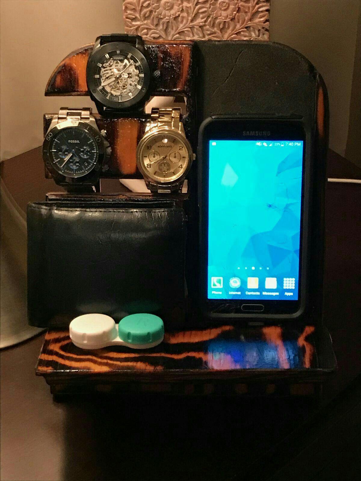 Diy nightstand organizer men homemade cell phone holder