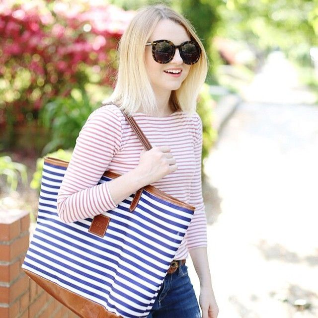 Stripes on stripes for spring! | Shop this look by heading to the blog or register right her... @liketoknow.it www.liketk.it/1ody2 #liketkit