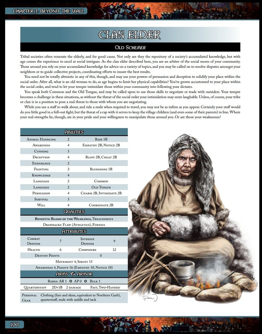 Clan Elder A Song Of Ice And Fire Roleplaying Night S Watch