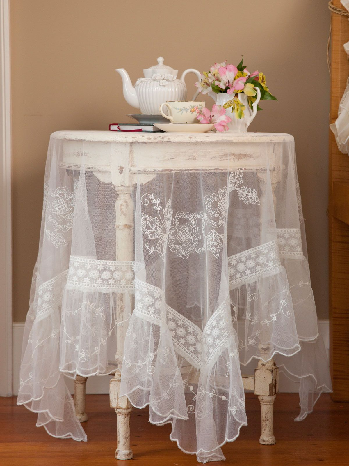 Charming Inspired By French Textiles And By The Elegant Victorian Aesthetic, The  Victorian Rose Tablecloth Collection Celebrates The Many Shades Of Blue  From The ...