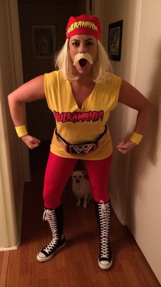 Hulk Hogan women's costume | Wwe halloween costume, Funny women ...