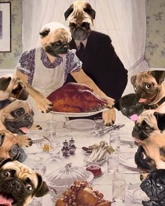 The holidays with the Pug family