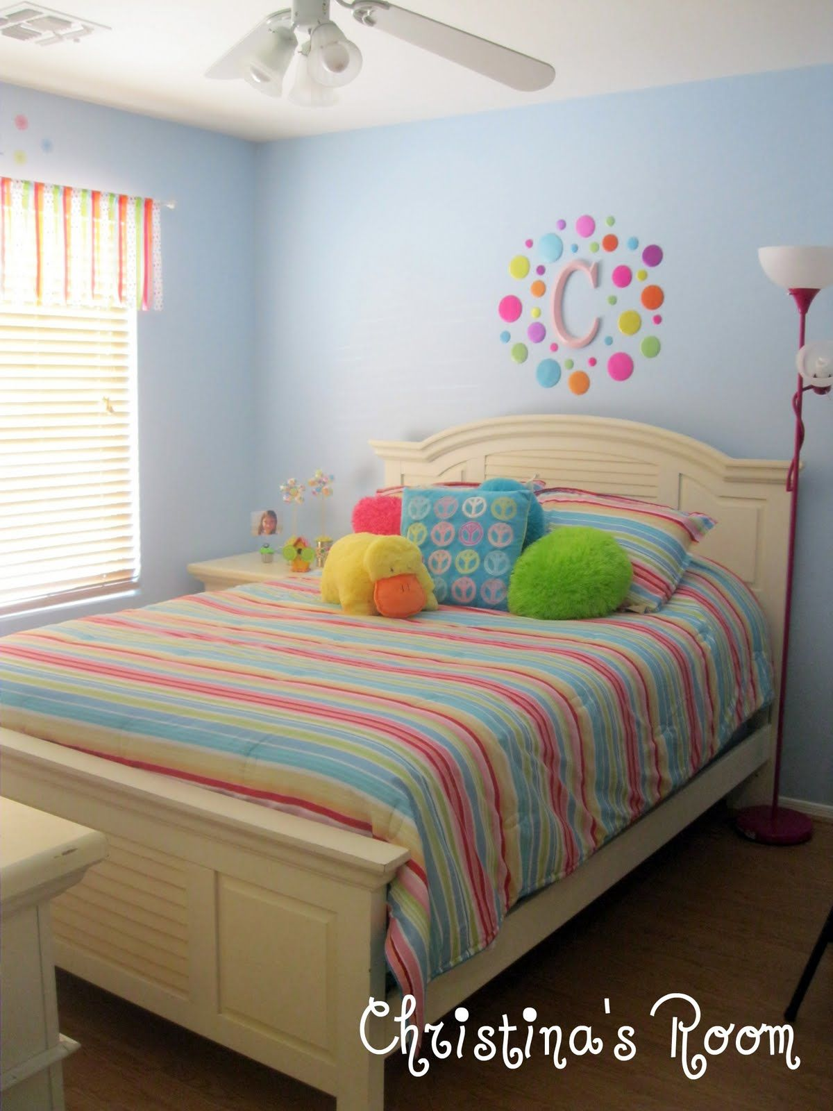 Before And After Christina S Room Girls Rainbow Bedroom Big