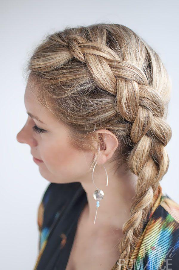 Dutch Side Braid Hairstyle Tutorial Hair Romance Braided Hairstyles Hair Styles Side Braid Hairstyles