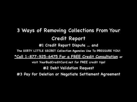 3 Ways Of Removing Collections From Credit Report How To Remove