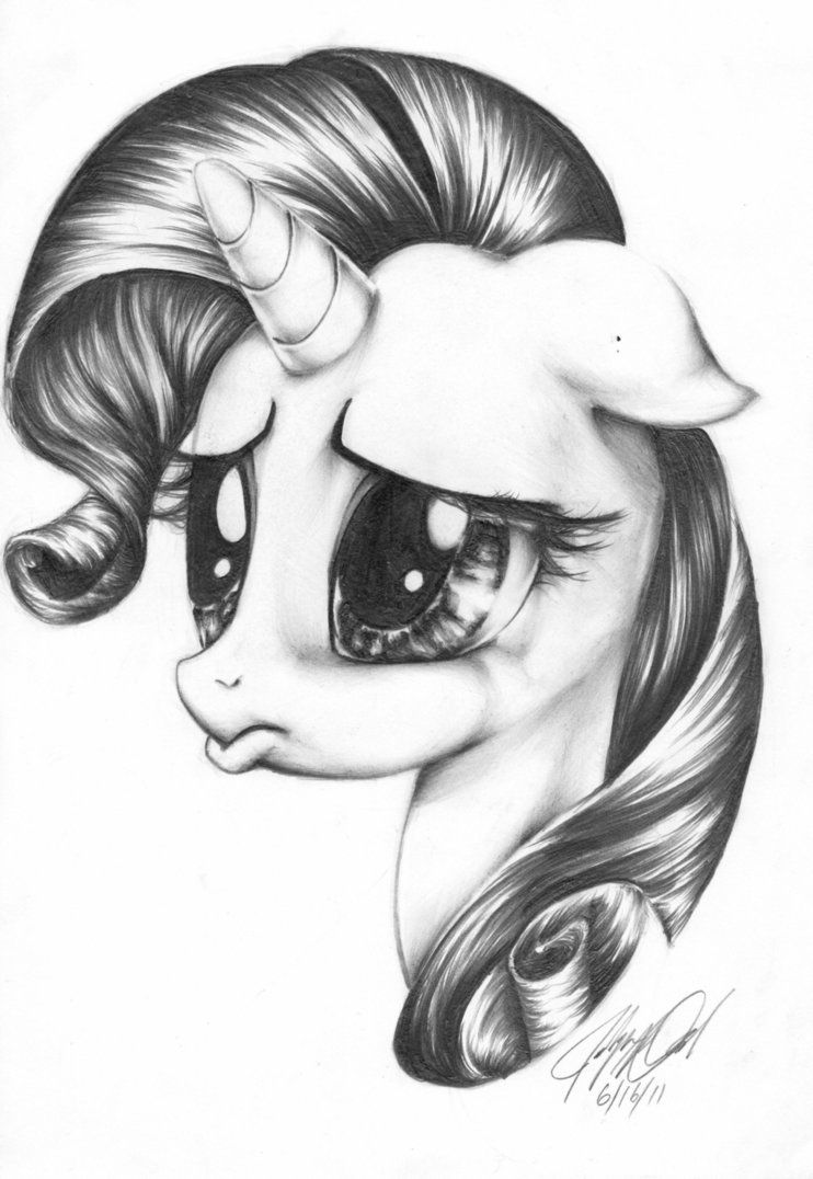 Rarity pencil drawing by carlotta guidicelli