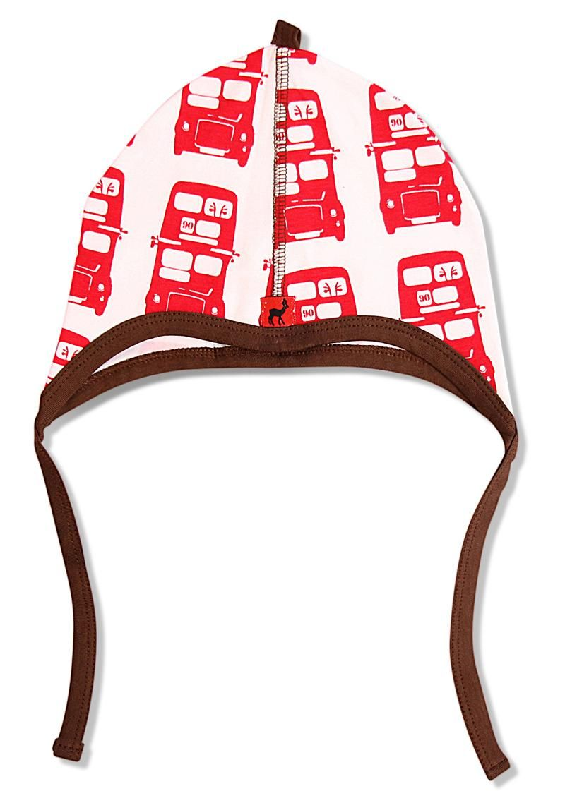 Hjorth hat - red bus Retro Baby Clothes - Baby Boy clothes - Danish Baby Clothes - Smafolk - Toddler clothing - Baby Clothing - Baby clothes Online