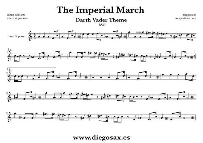 star wars sheet music bass clef - Erkaljonathandedecker