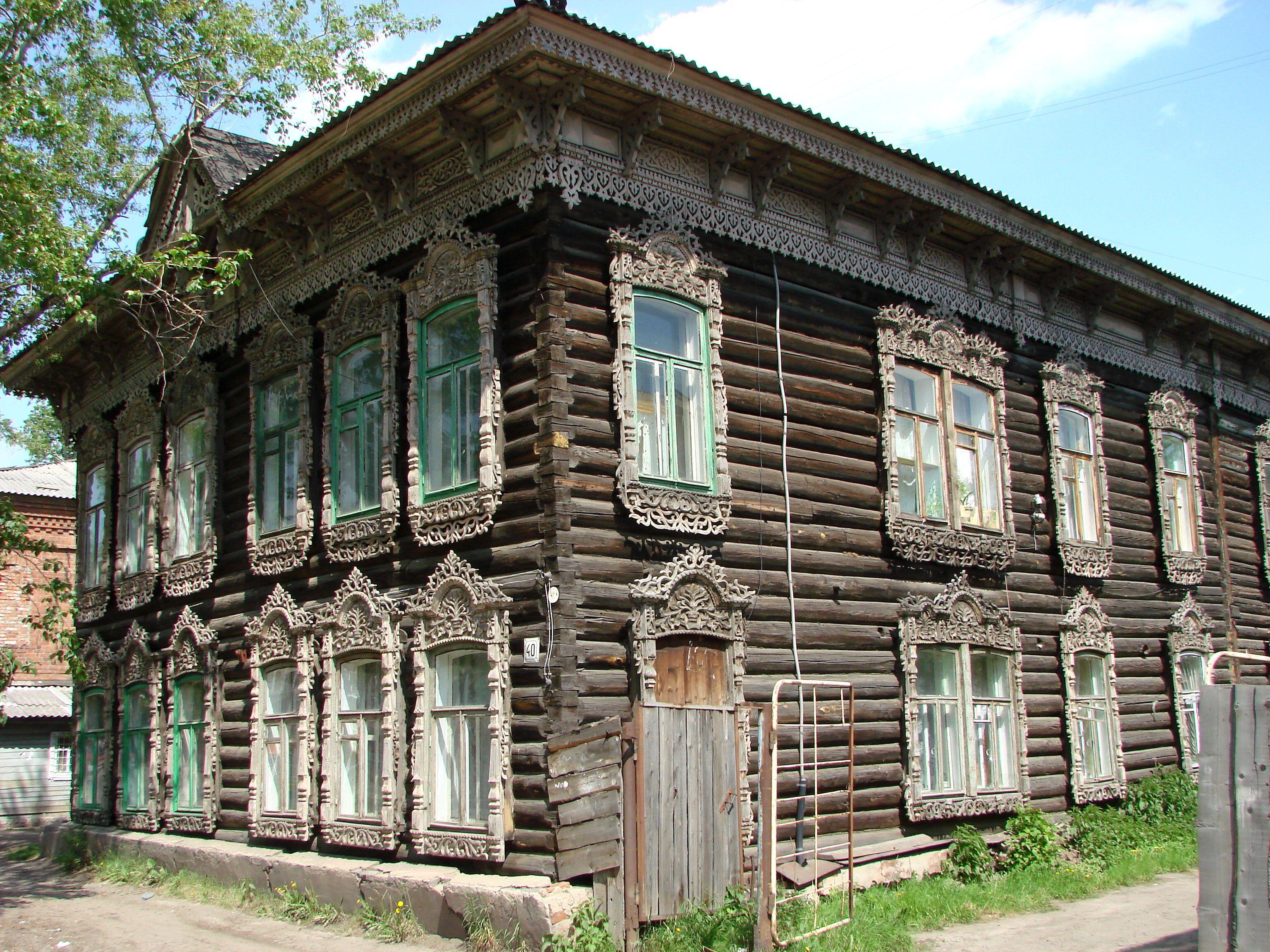 interior design for description traditional wooden house in tomsk