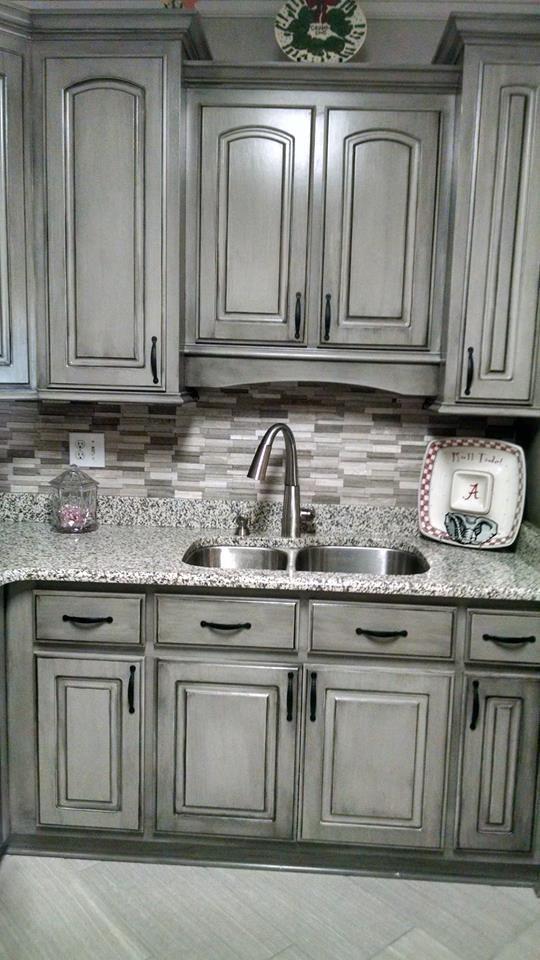 Glazed Kitchen Cabinets, White Cabinets With Gray Glaze