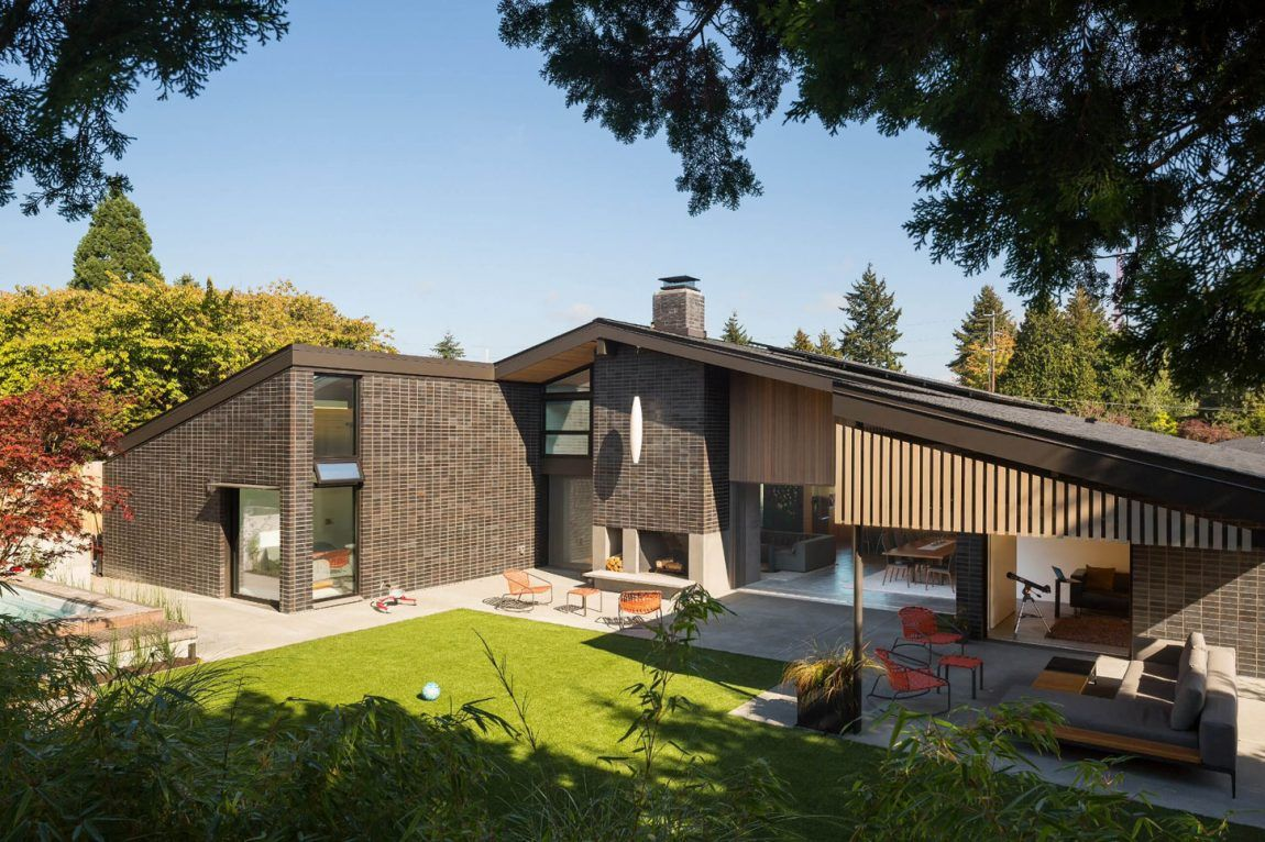 Lane Williams Architects Design A Private Residence In Vuecrest A Neighborhood Of Bellevue Washington Architect Design Architecture Architect