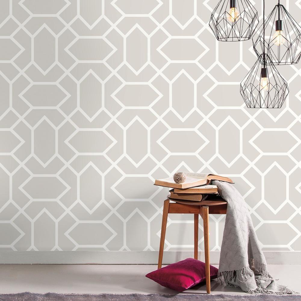 Modern Geometric Peel And Stick Wallpaper In 2021 Peel And Stick Wallpaper Peelable Wallpaper Room Visualizer