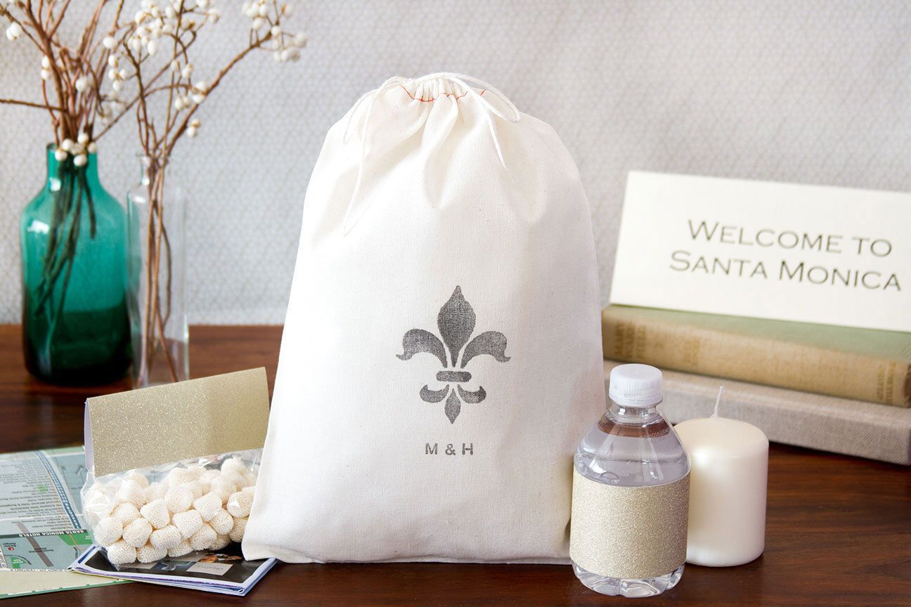 10 Fleur De Lis Wedding Welcome Bags - Out of Town Welcome Bags by ...