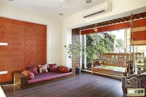 Bhartiya baithak for me in 2019 pooja room design - Indian style living room furniture ...