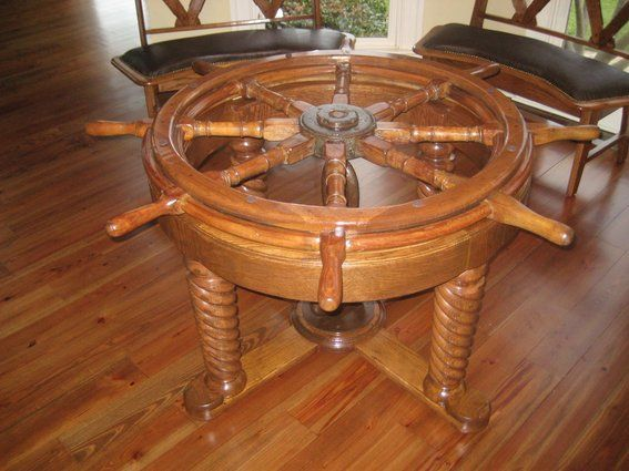 Dining Table: Ships Wheel Dining Table