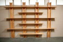Large Adjustable Oak Wall Shelving by Riccardo Martino Perego thumbnail 2