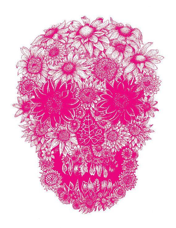 Pink flower sugar skull i want something like this backgrounds pink flower sugar skull i want something like this mightylinksfo