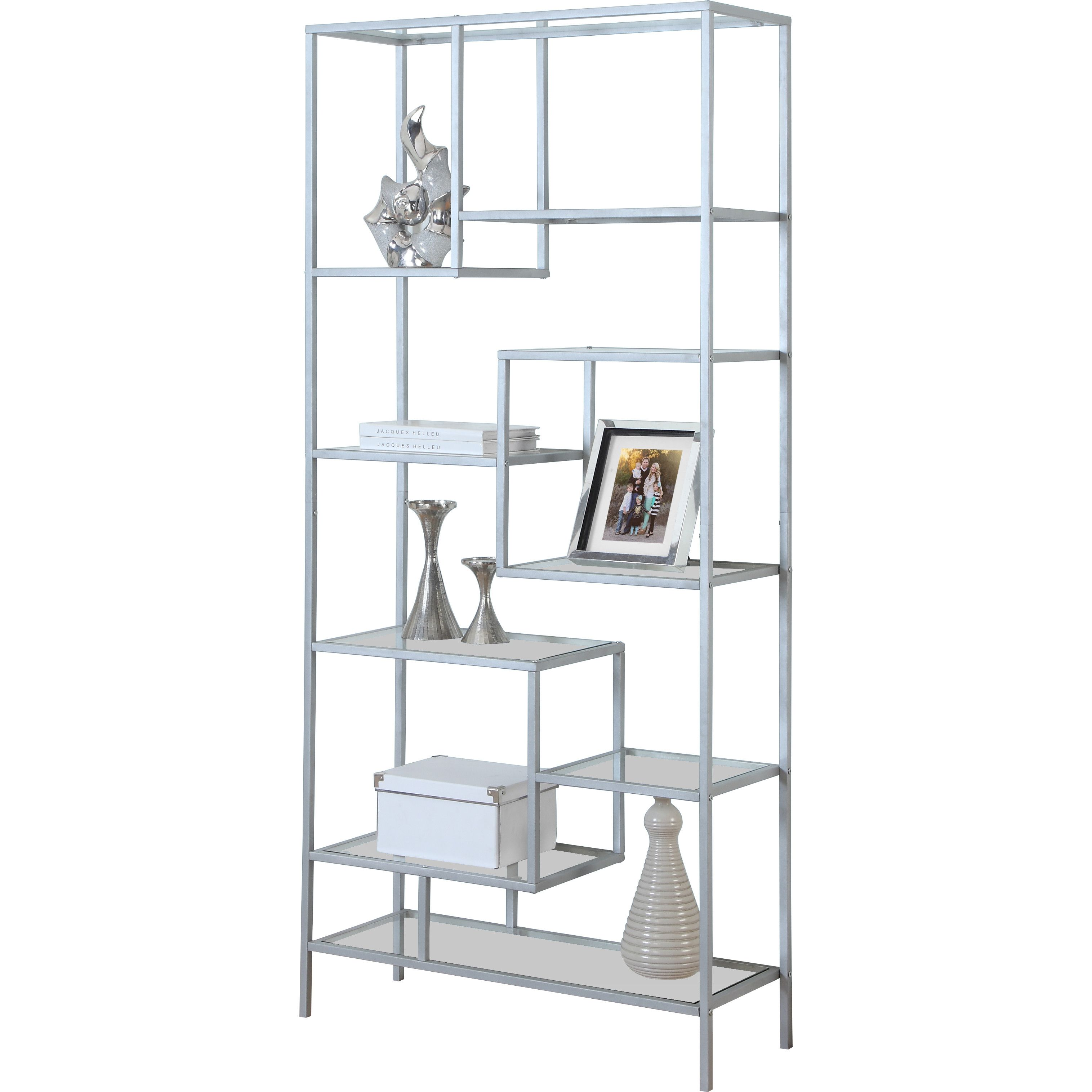 size set side white coffee bookcases bookcase metal chrome furniture tables specialties end sauder wheels accent cocktail full cottage console with industrial original contemporary of glass table and monarch