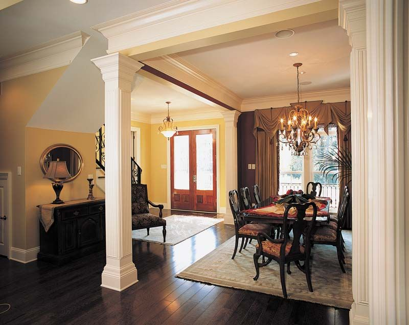 formal dining rooms with columns. lovely open dining area - plan #024s-0023 | houseplansandmore.com formal rooms with columns o