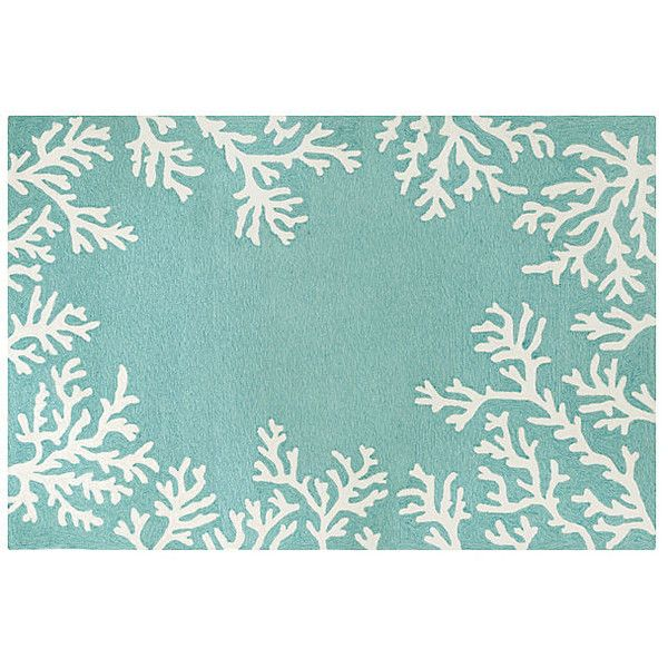 coral border outdoor rug aqua area rugs 249 liked on polyvore featuring home