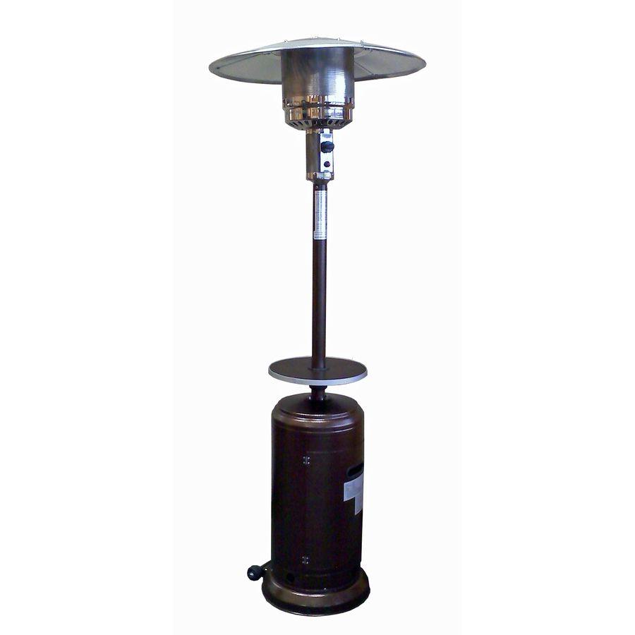 Garden Treasures 41000 Btu Hammered Gold Steel Floorstanding Liquid Propane Patio Heater Lowes Com Patio Heater Propane Patio Heater Gas Patio Heater