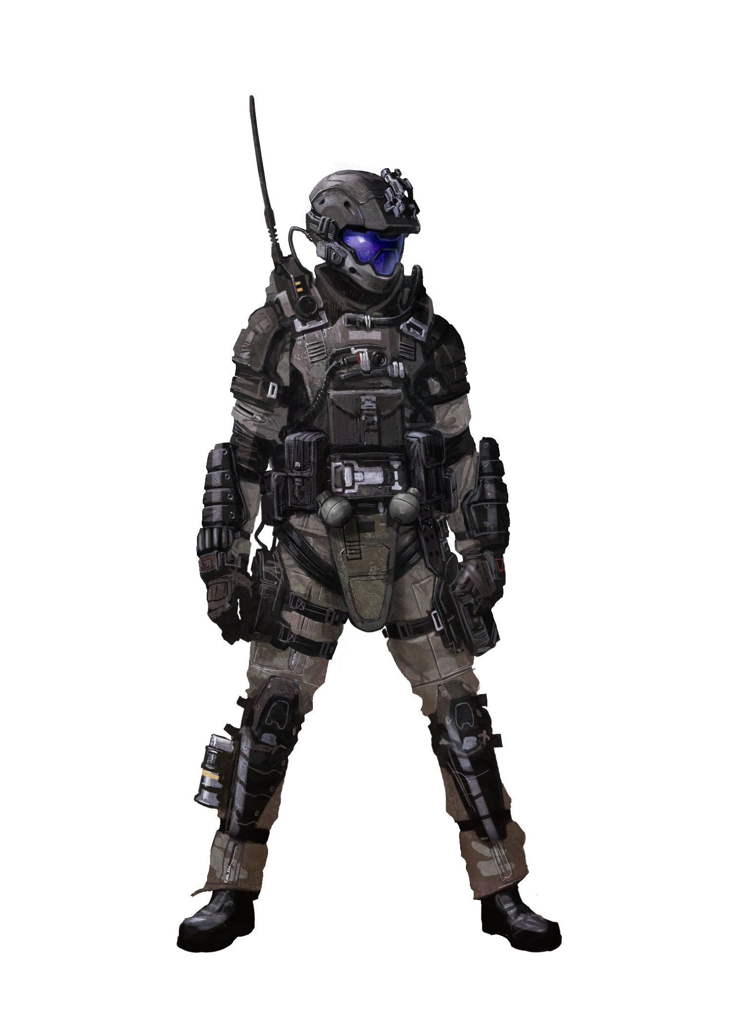 Artstation halo 3 odst iterations isaac hannaford sci fi 2 pinterest sci fi cosplay - Halo odst images ...