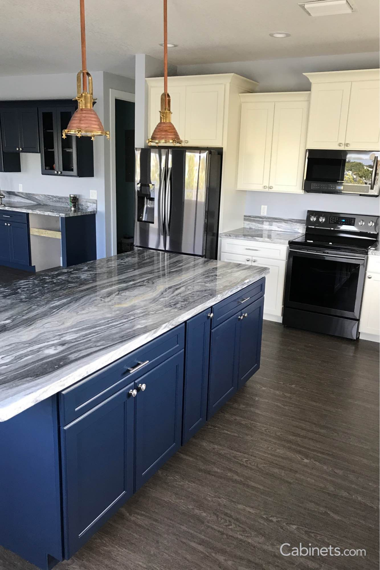 Check Out This Nautical Inspired Kitchen Using Our Baldwin Naval Alabaster Cabinets Online Kitchen Cabinets Kitchen Inspirations Kitchen Design