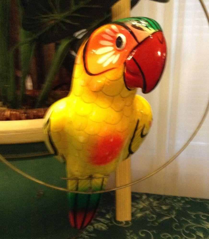 Large Ceramic Pottery Talavera Swing Hanging PARROT Bird Patio ...