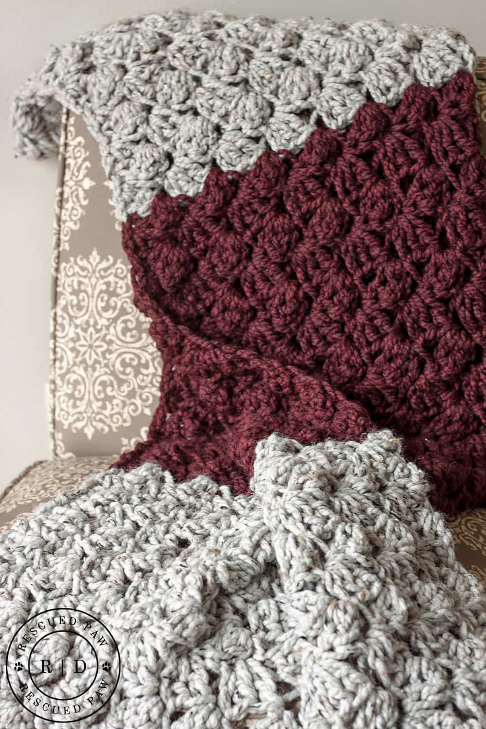 Charlotte Crochet Blanket a FREE pattern from RPD | Para bebes ...