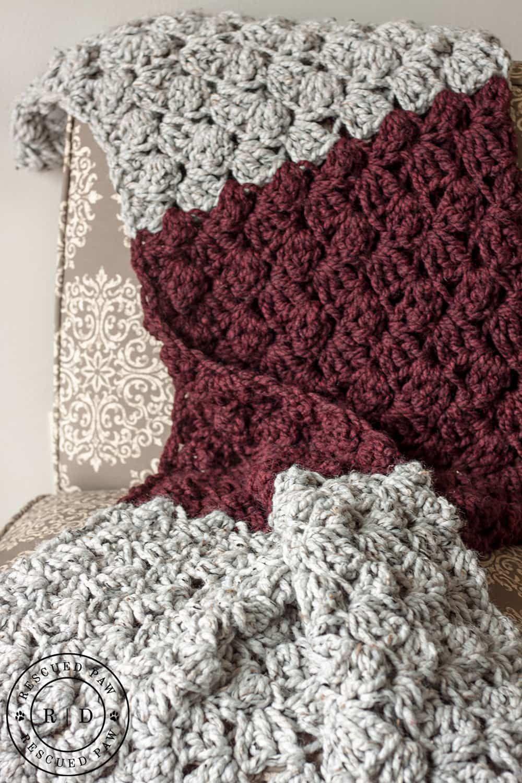 Charlotte Crochet Blanket a FREE pattern from RPD | Crochet blankets ...