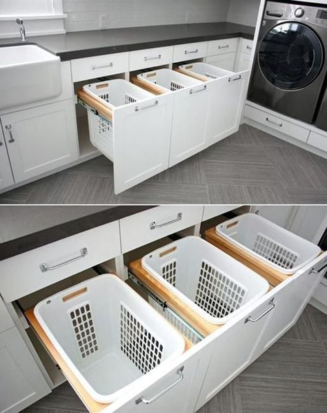 20 Space Saving Ideas for Functional Small Laundry Room Design #dreamhouserooms